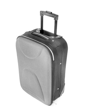 Large suitcase on white background Stock Photo
