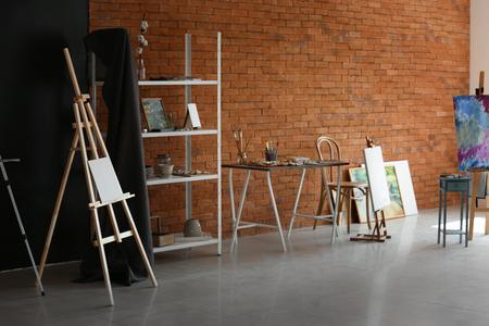 Interior of artist's workshop