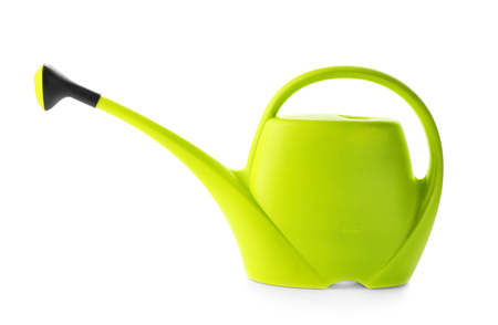 Watering can for gardening on white background 免版税图像