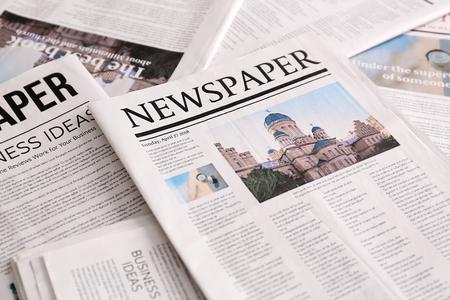 Many newspapers Archivio Fotografico - 113841643