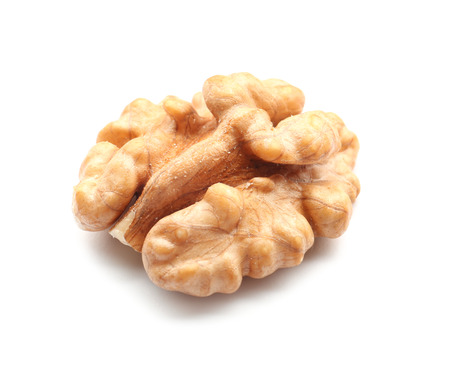 Tasty walnut on white background