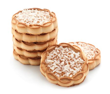 Sweet tasty cookies on white background 版權商用圖片