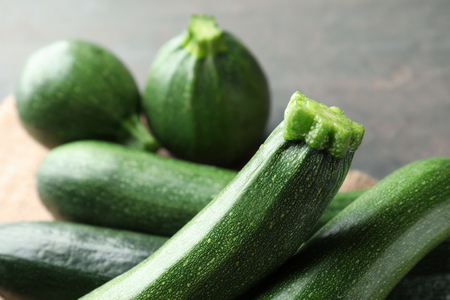 Ripe zucchinis, closeup