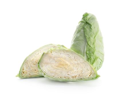 Whole and sliced cabbage on white background Reklamní fotografie