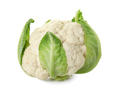Cauliflower cabbage on white background