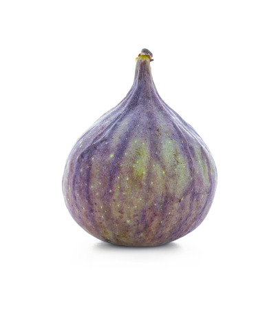 Fresh ripe fig on white background