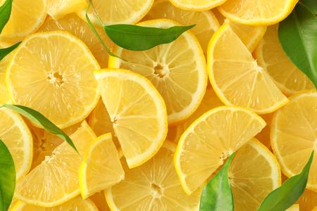 Many fresh lemon slices Stock fotó