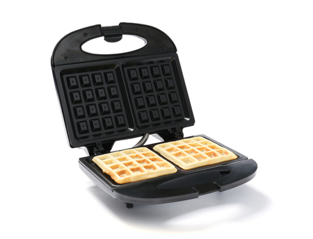 Modern waffle maker on white background 版權商用圖片