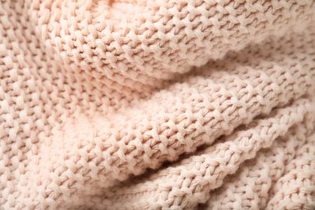 Light knitted fabric, closeup Stock Photo