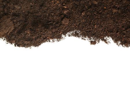 Brown soil on white background Reklamní fotografie