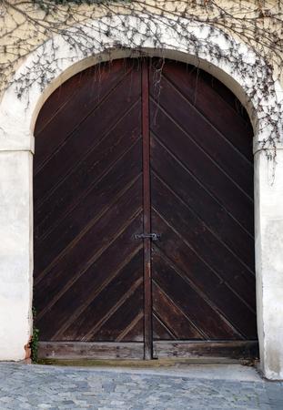 Old wooden gates Stok Fotoğraf