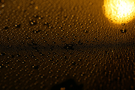 Dark surface with drops Stock Photo