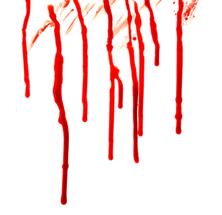 Blood stains on white background Imagens