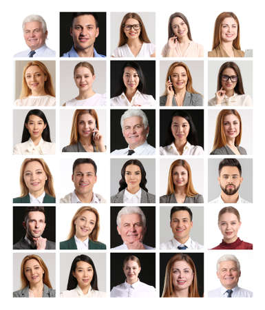 Collage of different business people