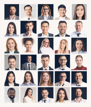 Collage of different business people Stockfoto