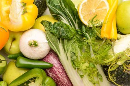 Assortment of fresh vegetables, closeup