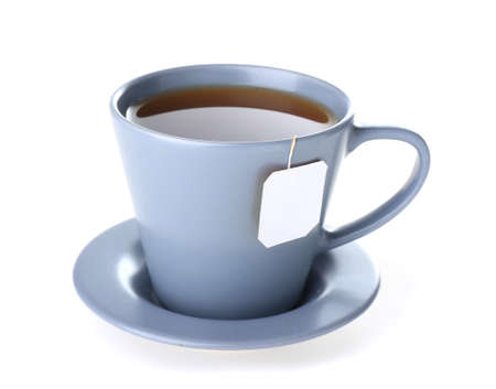 Cup of hot tea on white background Stock Photo