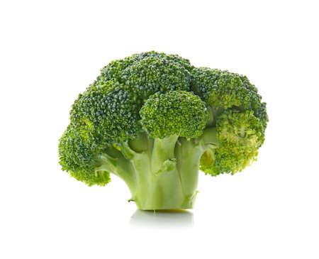 Fresh broccoli cabbage on white background