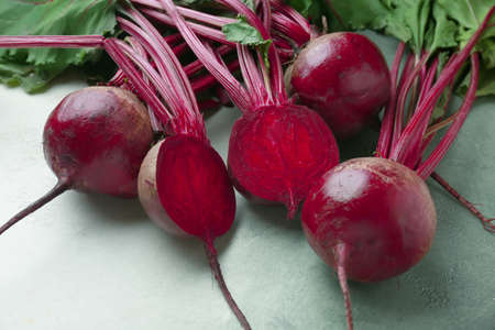 Fresh beets on color background Stockfoto