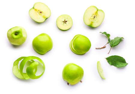 Fresh ripe apples on light background