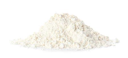 Heap of flour on white background Stock fotó