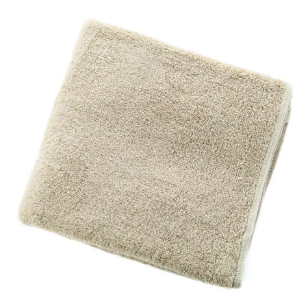 Soft clean towel on white background