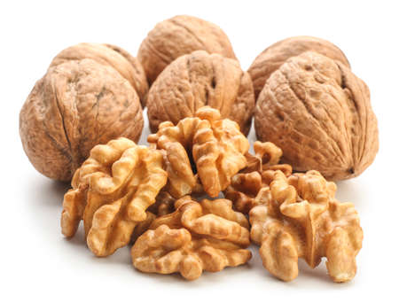 Tasty walnuts isolated on white