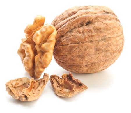 Tasty walnut isolated on white