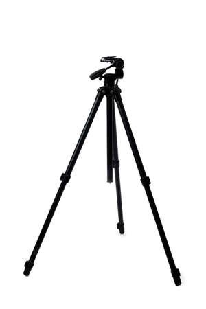 Tripod for photo camera on white background