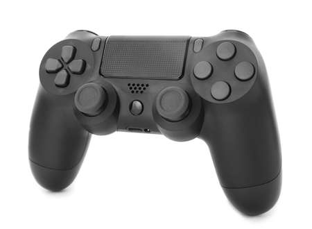 Modern game pad on white background