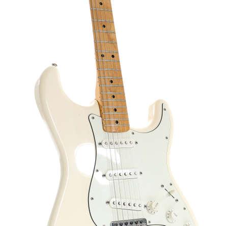 Modern guitar on white background Standard-Bild