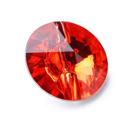Precious stone for jewelery on white background