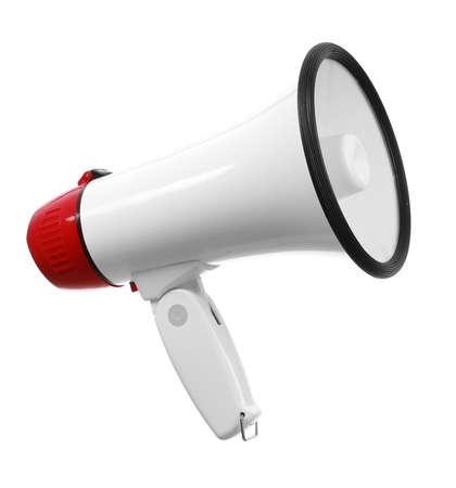 Modern megaphone on white background