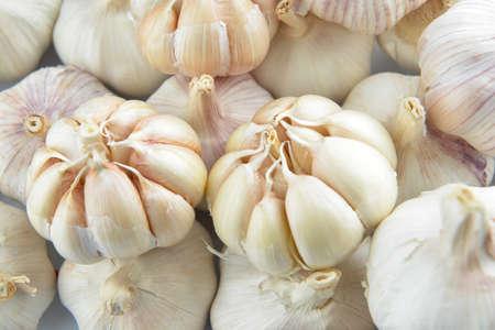 Heap of fresh garlic, closeup Zdjęcie Seryjne