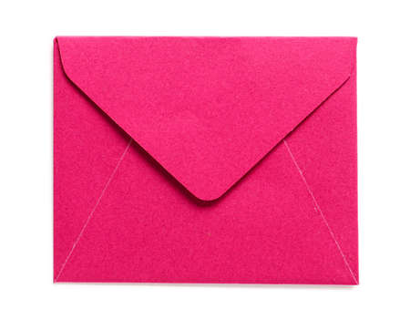 Paper envelope on white background