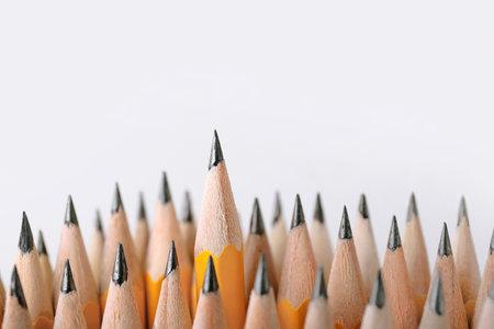 Many pencils on light background