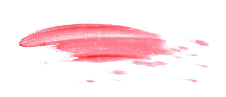 Smeared blood on white background
