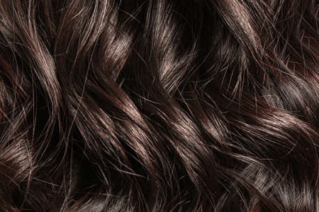 Beautiful long curly hair as background