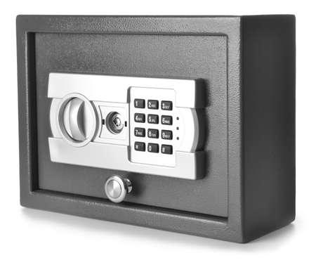 Modern safe on white background