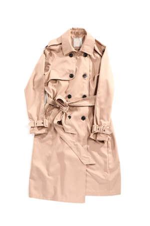 Stylish coat on white background