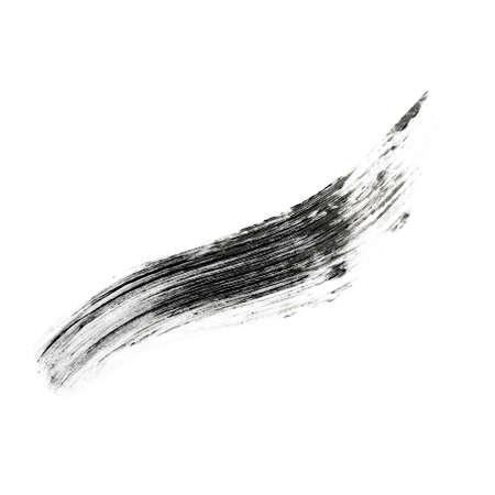 Sample of mascara on white background