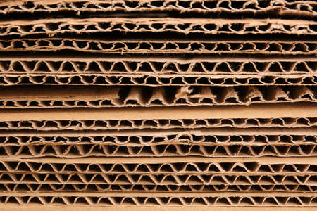 Texture of cardboard paper, closeup Standard-Bild