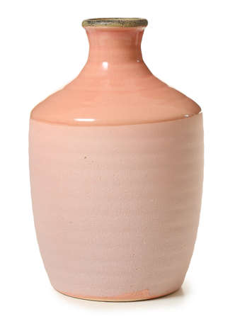 Beautiful vase on white background