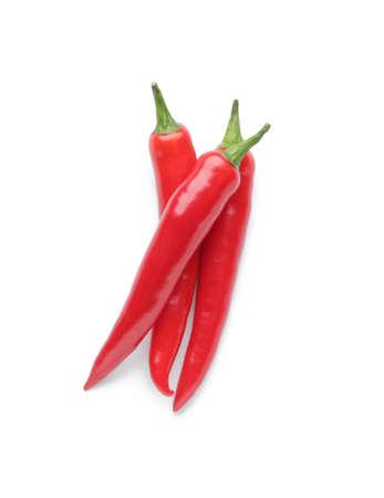 Hot chili pepper on white background