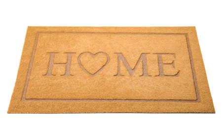Door mat on white background Фото со стока