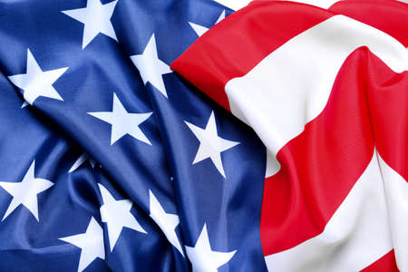 Flag of the USA as background