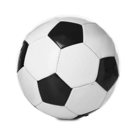 Soccer ball on white background Foto de archivo