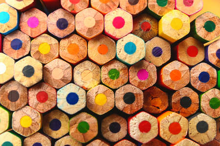 Set of colorful pencils as background Stock Photo