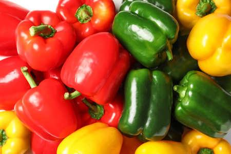 Different bell pepper as background Zdjęcie Seryjne