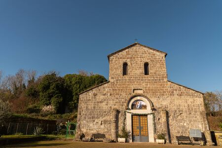 Teano, Campania, Italy. Church of San Paride ad Fontem. View of the main facade